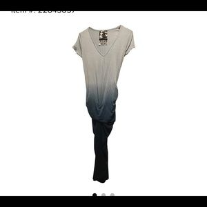 Young Fabulous Broke blue ombré knee length dress